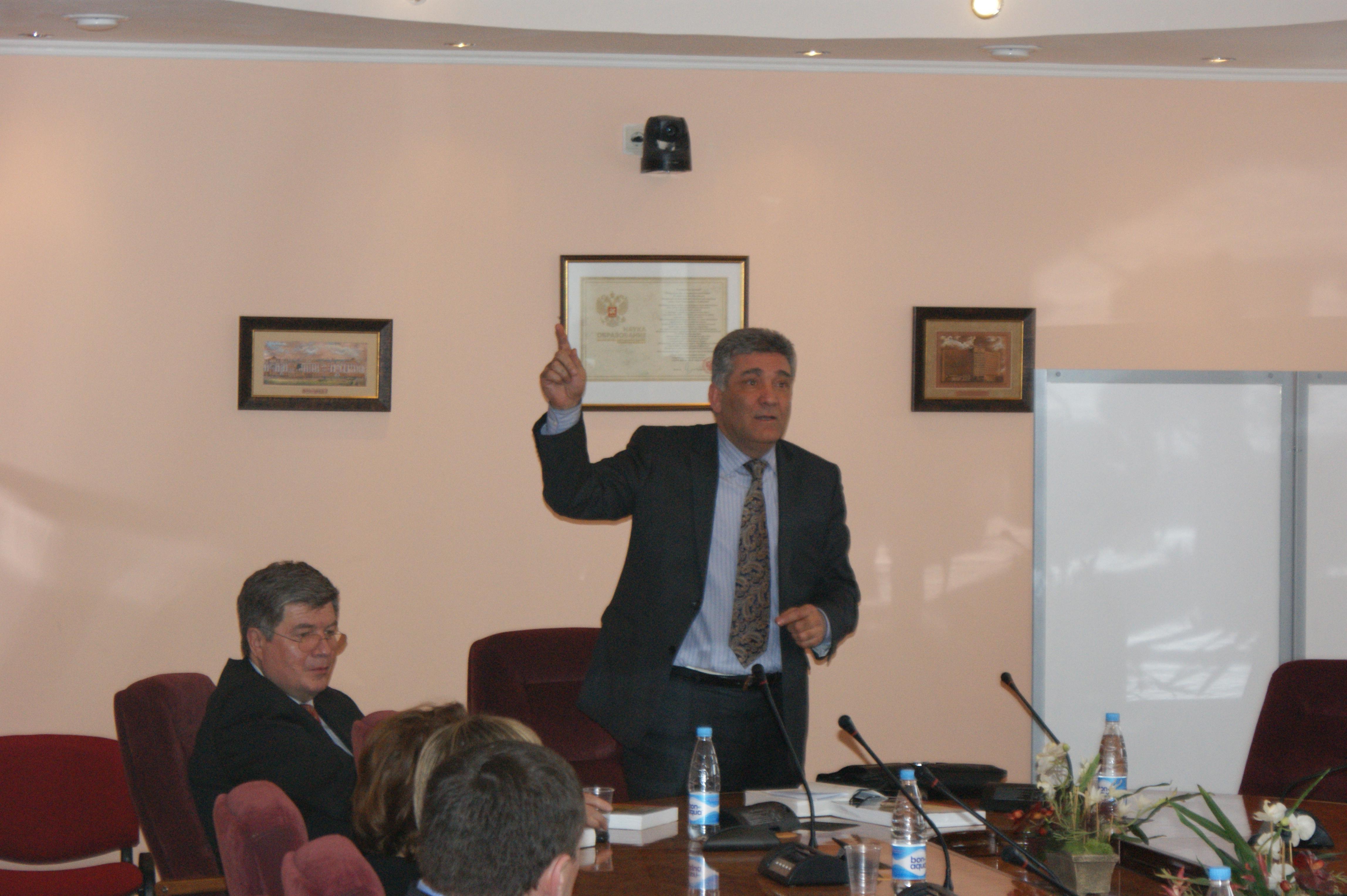 Выступление Председателя Азербайджнаского Представительства Союза И.В. Велиева 27 марта 2012
