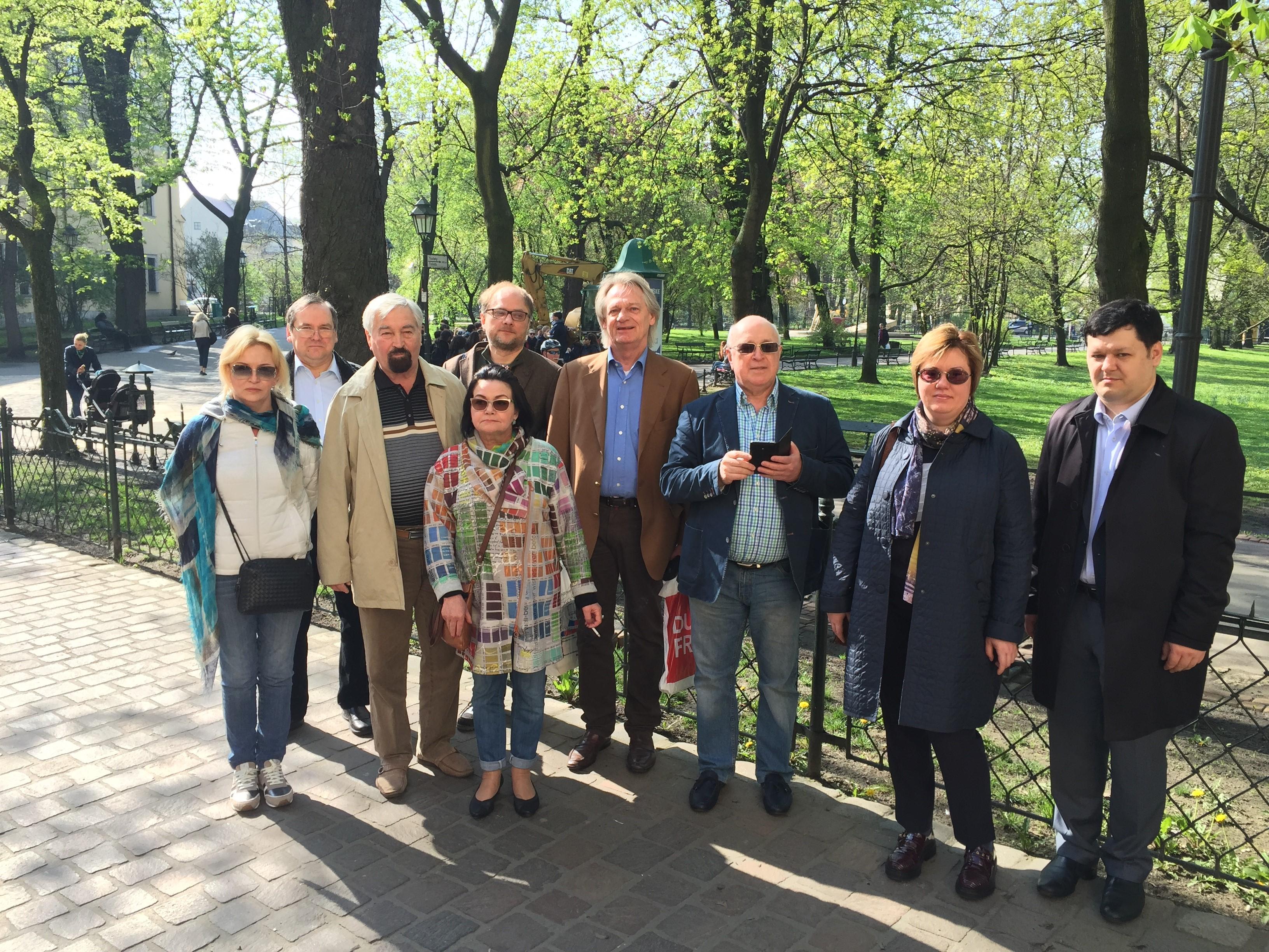 Делегация СКК перед посещением юридического факультета Ягеллонского университета