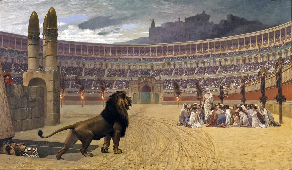 1200px-Jean-Léon_Gérôme_-_The_Christian_Martyrs'_Last_Prayer_-_Walters_37113